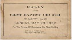 Fundraising Rally for New Church, 1922