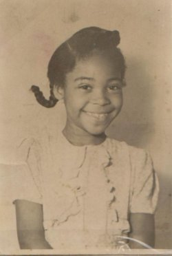 Marie Scott as a child