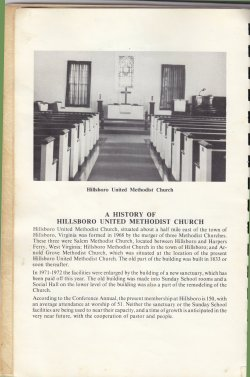 History of Hillsboro Church